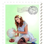 cairns mobile makeup artist for pin-up photo sessions red lips classic eye soft curls old school