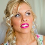 green island bride blonde hair pink lipstick cairns mobile hair & makeup