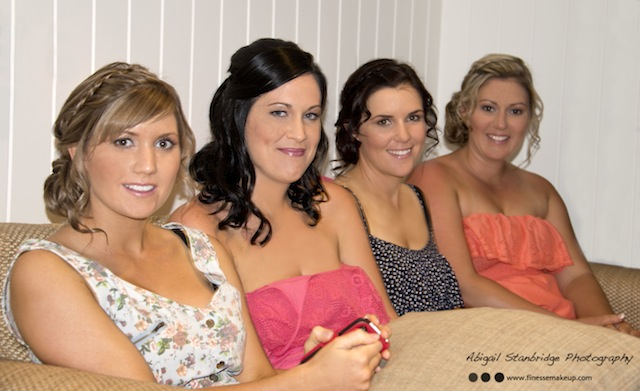 Mission Beach wedding makeup and hair bride and bridesmaids
